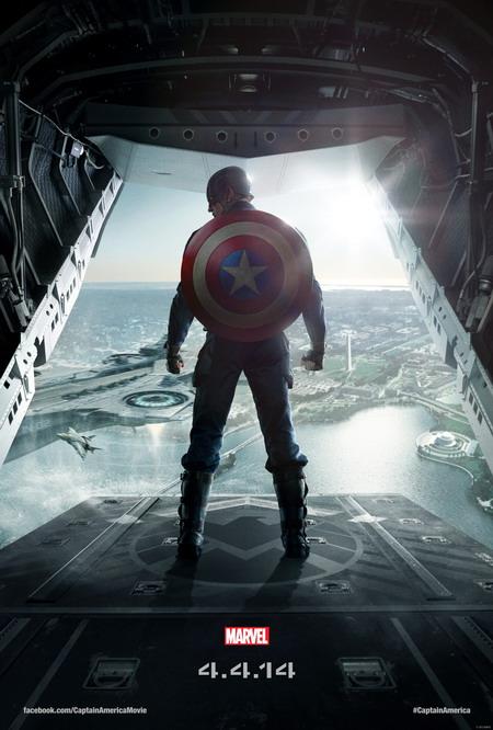 "Poster đầu tiên của ""Captain America: The Winter Soldier"". Ảnh: Marvel."