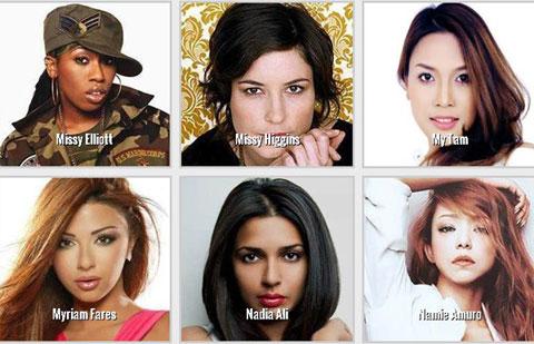 Tên và hình ảnh Mỹ Tâm tại hạng mục 'Nữ nghệ sĩ xuất sắc nhất thế giới' trên website của giải thưởng. Ảnh chụp màn hình