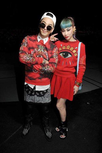 Nam ca sĩ Tae Yang của nhóm nhạc Hàn Quốc Big Bang vàMademoiselle Yulia