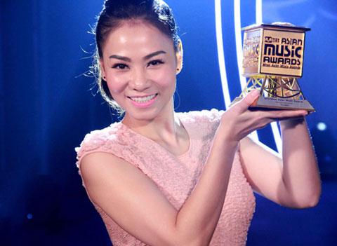 Mỹ Tâm đoạt giải Mnet Asian Music Awards. Ảnh: M.T.