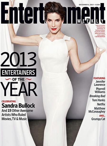 Nữ diễn viên trên trang bìa Entertainment Weekly.