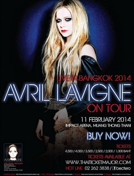 Đây là lần thứ hai Avril Lavigne sang Thái Lan biểu diễn. Ảnh: Bec-Tero.