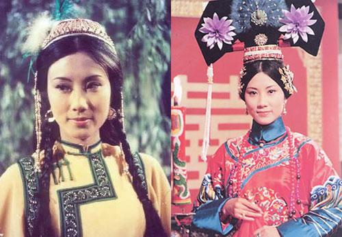 Minh Thuyên trong Thư kiếm ân cừu lục (trái) và Thanh cung tàn mộng. Uông Minh Thuyên (sinh năm 1947) là nghệ sĩ đa tài Hong Kong, đã đóng hàng loạt phim nổi tiếng của TVB.