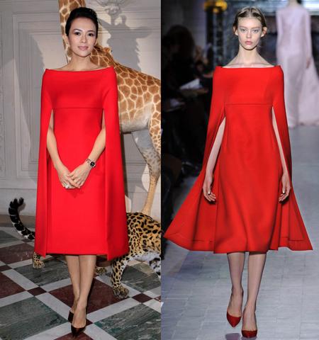 Tử Di thu hút sự chú ý với bộ váy đỏ sang trọng của