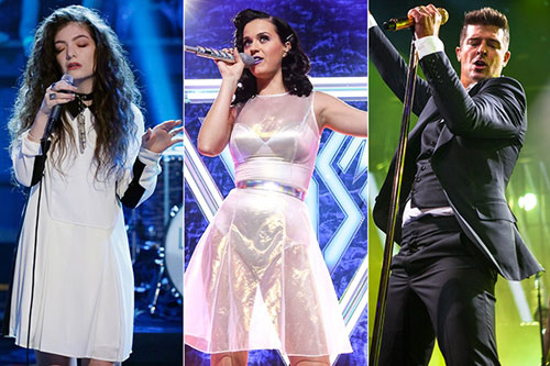 Lorde, Katy Perry, Robin Thicke