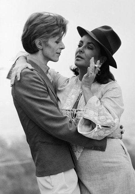 David Bowie and Elizabeth Taylor, Los Angeles, 1975