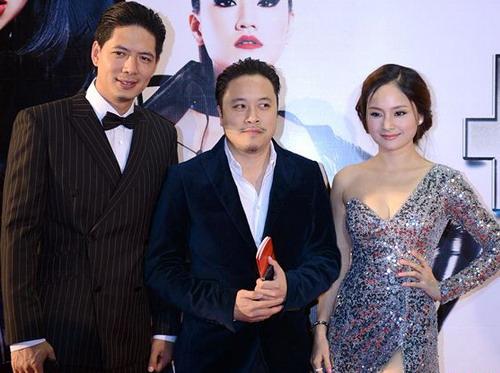 """Đạo diễn Victor Vũ (giữa) bên """"Mr. Hoàn Hảo"""" Bình Minh và """"kiều nữ đa nghi"""" Lan Phương."""