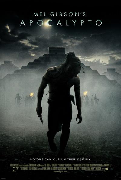 """Poster phim """"Apocalypto"""" của đạo diễn kiêm diễn viên Mel Gibson."""