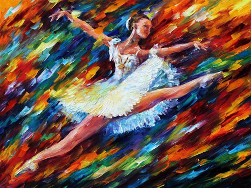 """Leonid Afremov sinh năm 1955 ở Vitebsk, Belarus, là họa sĩ phái Ấn tượng nổi tiếng đương đại. Ông vẽ nhiều tác phẩm với nhiều chủ đề, từ trẻ thơ, gia đình tới âm nhạc, khiêu vũ, thiên nhiên& Tranh của Afremov gây ấn tượng mạnh bởi cách phối màu sắc cùng sự sống động. Đây là bức""""Mê say""""."""
