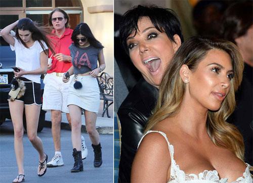 Kim Kardashian thừa hưởng gương mặt đẹp của mẹ Kris Jenner