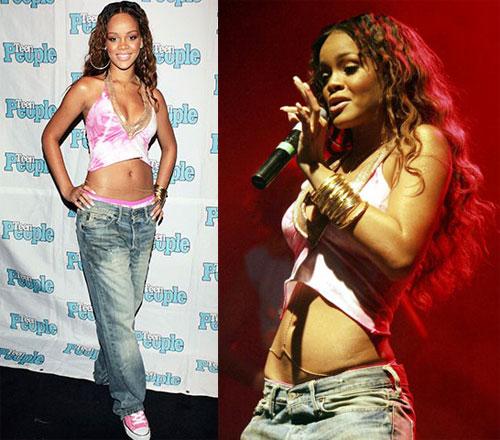 Rihanna tháng 7/2005.