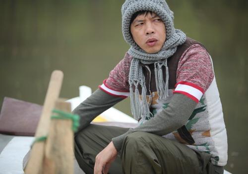 """Nhân vật Cu Hù của Thái Hòa là điểm nhấn hút khách trong """"Quả tim máu""""."""