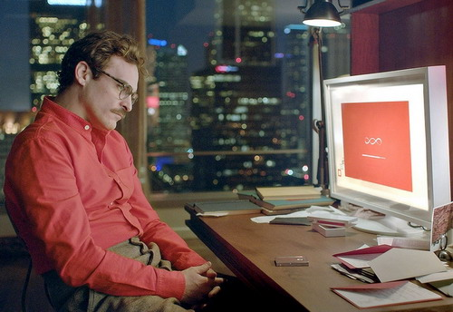 """""""Her"""" là câu chuyện về chuyện tình giữa nhà văn cô đơn Theodore và phần mềm máy tính OS có tên Samantha."""