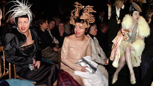 1. Isabella Blow Nổi tiếng với những chiếc mũ kiểu cách, phô trương, một chút phong cách haute couture lập dị và kiểu trang điểm cổ điển dễ hù dọa người khác, có lẽ vì thế mà Isabella Blow, vốn là một biên tập viên thời trang, đã trở thành nàng thơ của hai nhà thiết kế lập dị nổi tiếng Phillip Treacy và Alexander McQueen. Bà luôn trình diễn những thiết kế ngông cuồng mà đẳng cấp của hai người bạn thân, ưu ái những chiếc giày cao gót không gót thách thức trọng lực để tạo nên ấn tượng lập dị ở đỉnh cao thời trang thế giới. Nhiều người từng cho rẳng sự kết thân giữa Lady Gaga và nhà mốt Versace cũng có điểm giống nhau như thế.