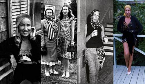 9. Edith Bouvier Beale Edith Bouvier Beale, hay còn gọi là Edie bé nhỏ, là em họ của Đệ nhất Phu nhân Mỹ Jacqueline Kenedy. Bà cùng người mẹ lập dị của mình nổi danh bởi những trang phục tự chế đặc biệt, vừa điên loạn nhưng vẫn trông hợp lý. Bộ phim Grey Gardens do Drew Barrymore thủ vai chính đã khắc họa tương đối thành công hình ảnh thời xưa của biểu tượng thời trang này.