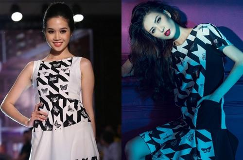 """Trong chương trình """"Phong cách và cuộc sống"""" diễn ra ngày 18/3, phần trình diễn của một thương hiệu thời trang gây chú ý khi có nhiều mẫu thiết kế có họa tiết giống với hai bộ sưu tập côn trùng của Đỗ Mạnh Cường và Công Trí."""
