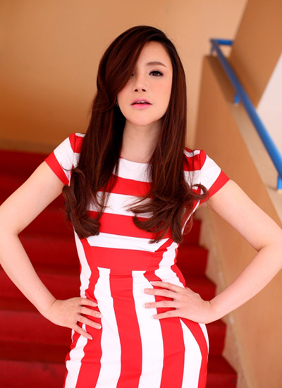 Hồ Quỳnh Hương tại buổi ghi hình cho vòng Hội ngộ của X Factor phiên bản Việt.