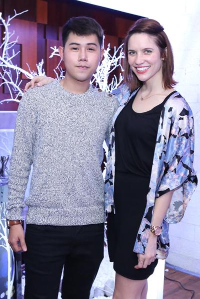 Lâm Gia Khang  quán quân cuộc thi Belve - Tin vào bản năng, khẳng định cá tính 2012 và cô Ali Dedianko  đại sứ thương hiệu Belvedere toàn cầu