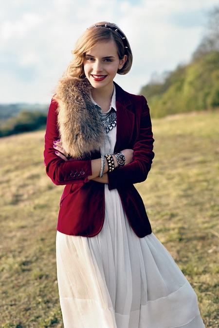 Emma Watson là một trong những biểu tượng thời trang của xứ sương mù.