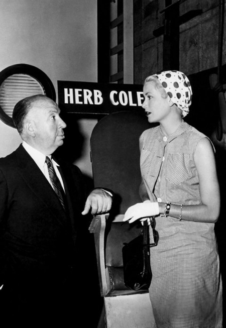 pictured with legendary film director, Alfred Hitchcock Read more at http://www.marieclaire.co.uk/fashion/ideas/34648/0/ultimate-style-icons-grace-kelly.html#Jy6qxlwO17Z8aJeC.99