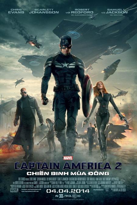 """""""Captain America: The Winter Soldier"""" là bom tấn đầu tiên của mùa phim hè 2014. Ảnh: Marvel."""