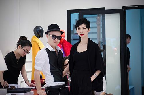 Xuân Lan, người luôn đồng hành với các dự án của Đỗ Mạnh Cường với vai trò là đạo diễn catwalk.