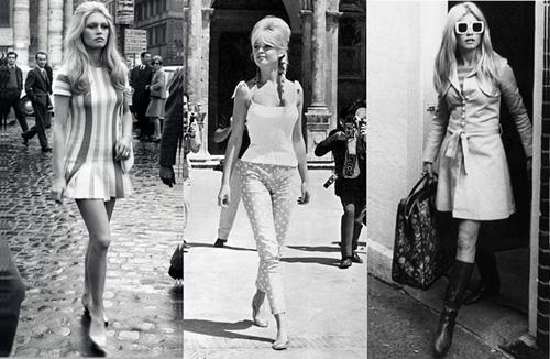 5. Brigitte Bardot Nổi tiếng hơn với danh hiệu biểu tượng sex, nhưng biểu tượng nhan sắc một thời của điện ảnh Pháp vẫn là hình tượng khó quên của làng thời trang với mái tóc tổ ong bới cao, mắt mèo sắc sảo, thân hình chuẩn mực của một vũ công ballet kèm những bộ trang phục đơn giản nhưng bốc lửa.