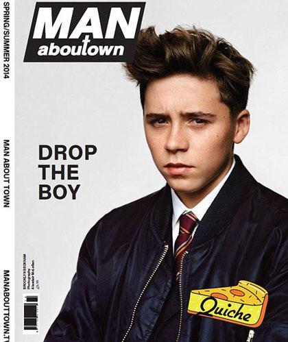 Brooklyn Beckham trên trang bìa tạp chí.