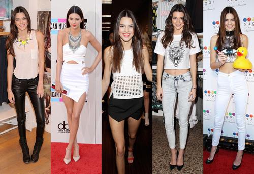 [Caption]1. Kendall Jenner Cô em gái xinh đẹp của Kim Kardashian xứng đáng có tên trong danh sách này, khi có xuất thân từ một gia tộc nổi tiếng trong thế giới thời trang. Bước qua tuổi 19, cô nàng người mẫu trẻ đã xây dựng được hình ảnh năng động và cá tính của mình trong những bộ trang phục khỏe khoắn, thời thượng. Hình ảnh này có phần đối lập hoàn toàn so với tai tiếng của các cô chị Kim, Kourtney và Khloe.