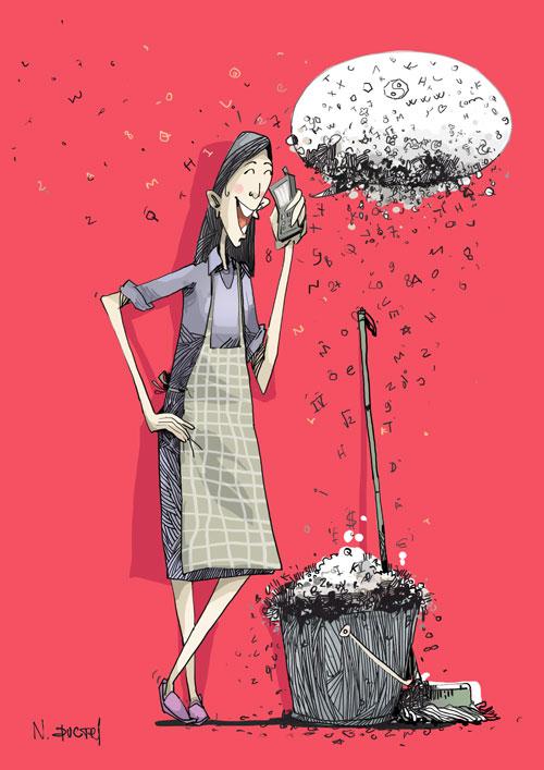 Tác phẩm của họa sĩ Nguyễn Đức Trí.