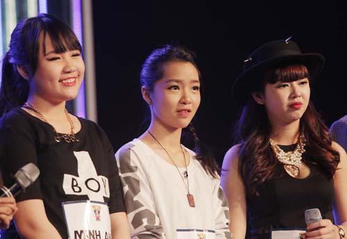 3 thành viên của nhóm Original là Diệu Linh, Minh Anh, Kim Cương đi tiếp vòng sau.