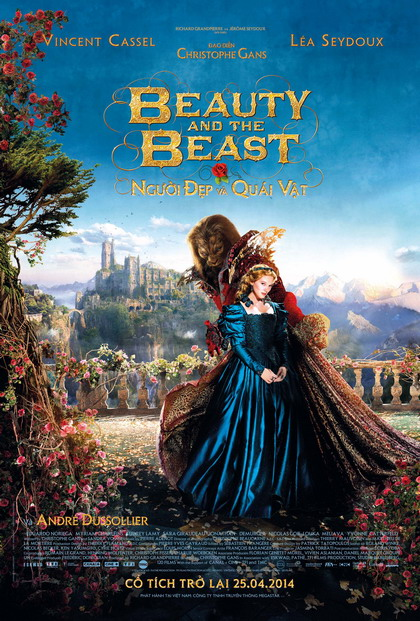 "Poster rực rỡ của phim ""Beauty and the Beast""."