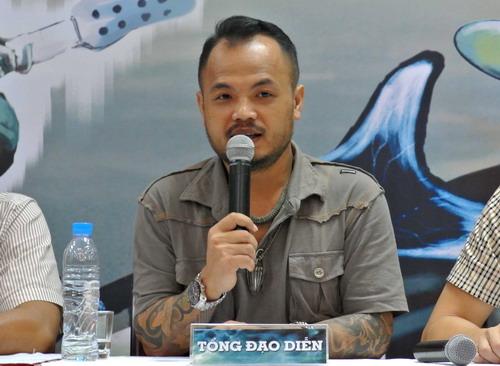 Trần Lập phát biểu trong buổi họp báo giới thiệu chương trình tại Hà Nội vào sáng 23/4.