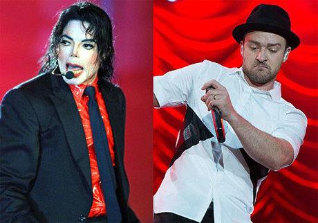 Michael Jackson và Justin Timberlake.