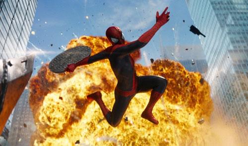 The Amazing Spider-Man 2 có nhiều cảnh hành động hoành tráng. Ảnh: Sony.