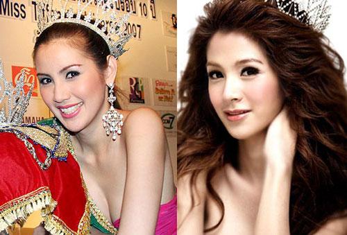 Miss Tiffany's Universe 2006 Rat-Ravee Jiraprapakul (trái) và