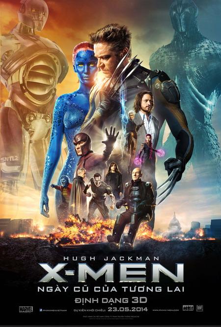 """""""X-Men: Days of Future Past"""" là bom tấn quy tụ nhiều ngôi sao nhất năm nay. Ảnh: Fox."""