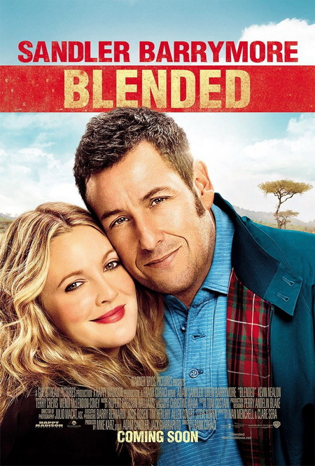 """""""Blended"""" đánh dấu sự hợp tác lần thứ ba giữa Adam Sandler và Drew Barrymore."""