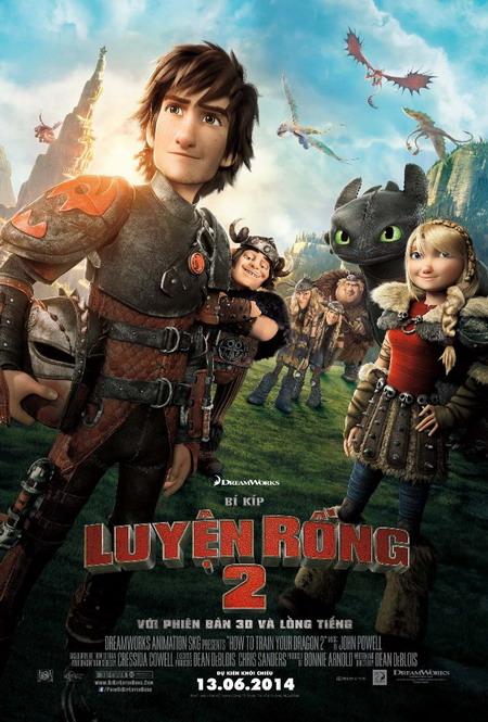 """""""How to Train Your Dragon 2"""" là phim hoạt hình 3D lớn nhất của mùa phim hè 2014. Ảnh: DreamWorks."""