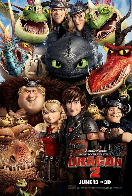 """Các nhân vật chính của phần hai """"Bí kíp luyện rồng"""". Ảnh: DreamWorks."""