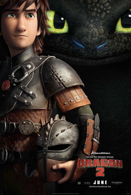 Cậu bé Hiccup và chú rồng Răng Sún trong phần hai đều đã lớn. Ảnh: DreamWorks.