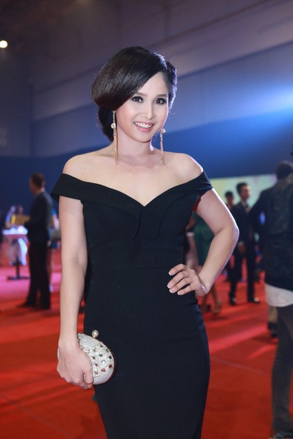 Bà xã của vầu thủ Thanh Bình cũng đến tham dự sự kiện.
