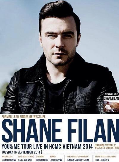 Hình ảnh về đêm diễn tại Việt Nam vào tháng 9 năm nay được Shane Filan chia sẻ trên Fanpage.