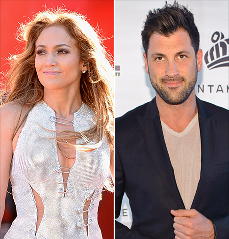 Jennifer Lopez và Maksim Chmerkovskiy. Ảnh: Us.