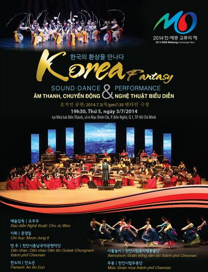 """Chương trình """"Korea Fantasy"""" giới thiệu về âm nhạc truyền thống Hàn Quốc."""