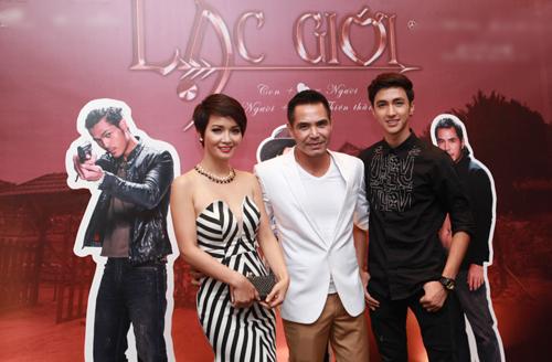 Từ trái qua: diễn viên Mai Thu Huyền, Trung Dũng và Bình An.