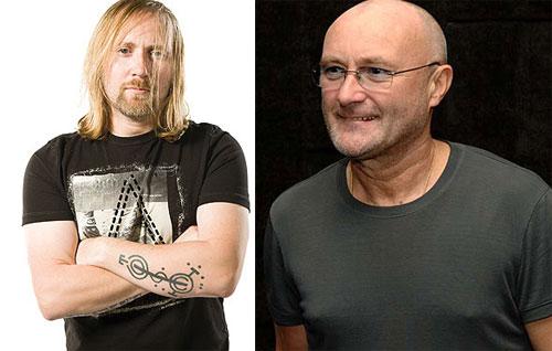 Simon Collins và bố