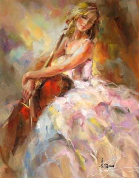 Đường cong phái đẹp trong tranh Anna Razumovskaya