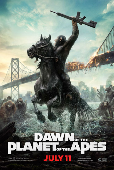 """Poster phim """"Dawn of the Planet of the Apes""""."""