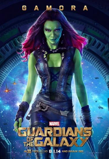 """Vai diễn mới nhất của Zoe là nữ sát thủ Gamora trong bom tấn hè 2014 - """"Guardians of the Galaxy""""."""